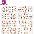 BOP116-119 squirrel & rabbit & fox nail art sticker lovely animal design nail stickers for nail water transfer stickers decal