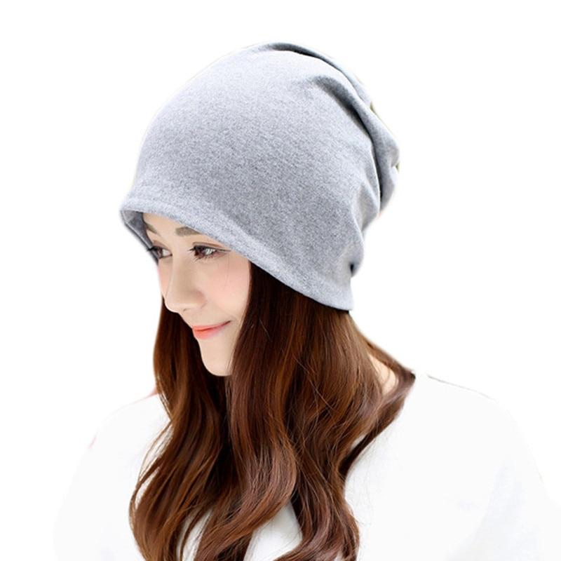 Women Cotton Hats Girls Hedging Cap Women   Skullies     Beanies   Casual Warm Hats Spring Warm Ladies Thin Caps Fashion Spring Winter