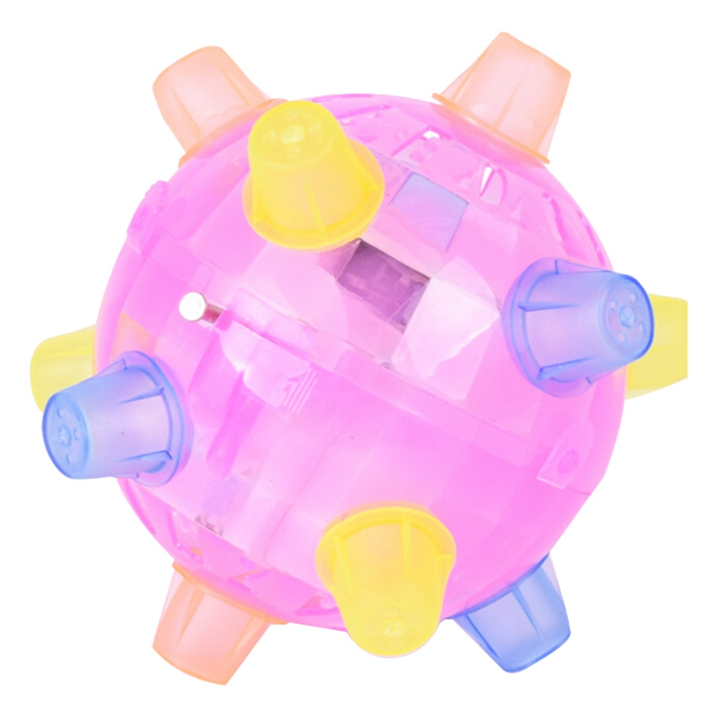 1Pcs Light Music Bouncing Ball Baby Kids Creative Learning Gift Flash music jump rotate hot electric dancing ball Toy