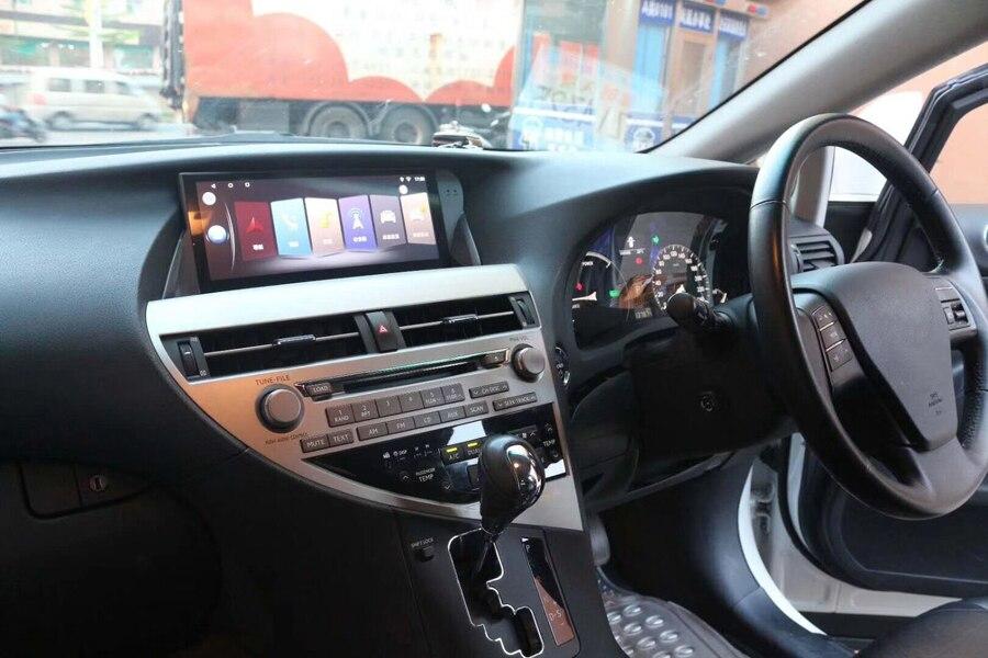 Para LEXUS RX270 RX350 2009 ~ 2015 Roda Direita 10.25 polegada cheia tela de toque gravador de unidades de cabeça carro multimedia player gps de navegação