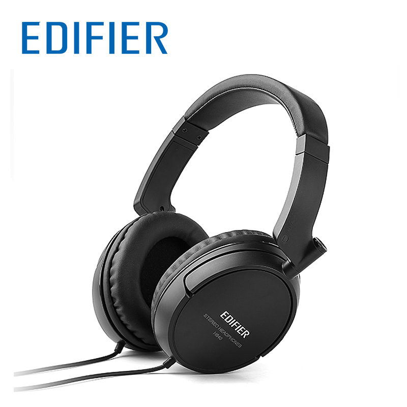 EDIFIER H840 Powerful Sound Headphones Headset Soft Foam and Leather Ear Caps HIFI Headphone 3 5mm
