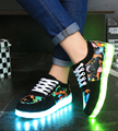 2017 luminous shoes unisex led glow shoe men & female fashion USB rechargeable light led shoes for adults led shoes 7 Colors
