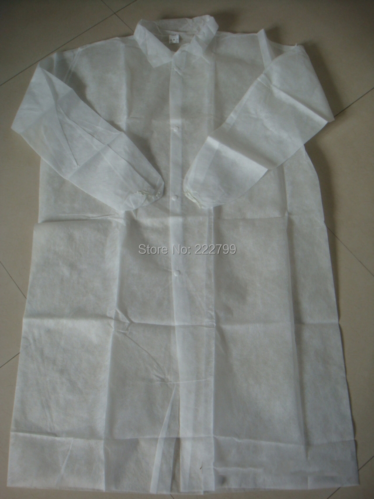 Aliexpress.com : Buy white coat Lab buttons apron Disposable non ...