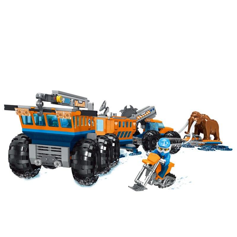 New City Set Arctic Mobile Exploration Base Building Blocks Bricks Compatible Legoing City Series 60195 Children Christmas Gifts