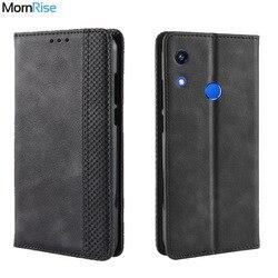 Luksusowe Retro Slim magnetyczny skórzana klapka dla Huawei Honor 8A Pro Case Book portfel karta stań miękka okładka telefon komórkowy torby