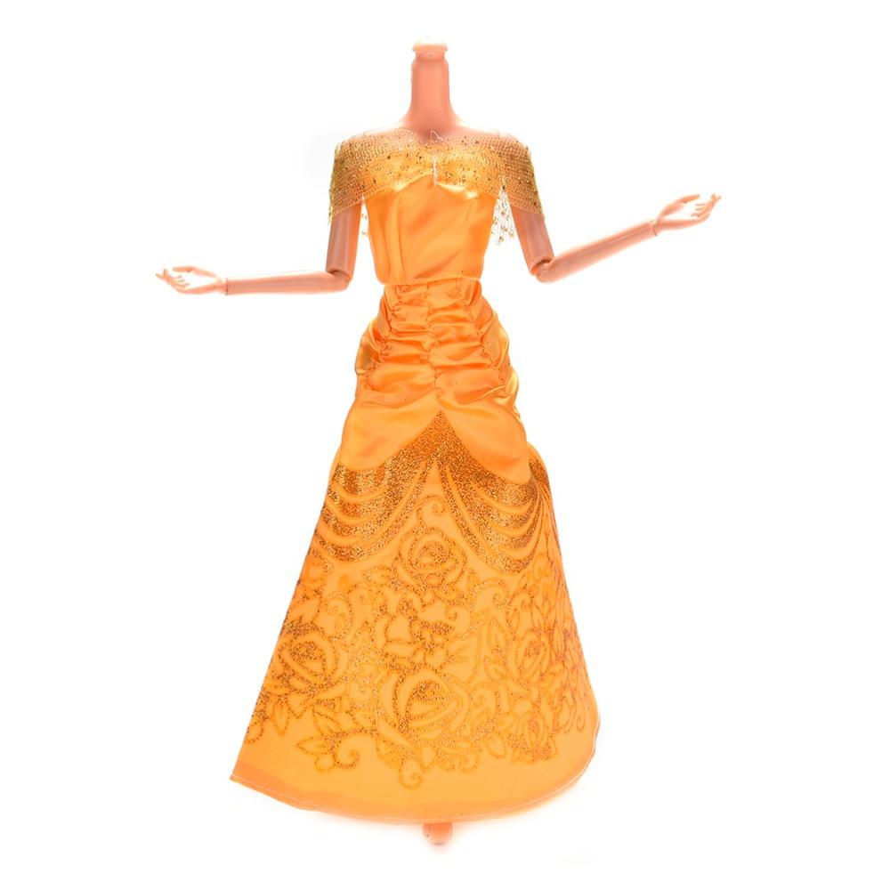 1set Similar Fairy Tale For Barbie Doll Wedding Dress Princess Belle ...