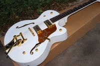 Shipping Free Factory Direct Wholesale Guitar Chinese Electric Guitar Basswood Body White