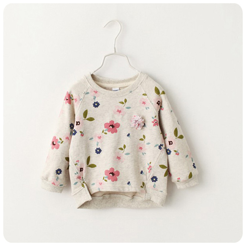 floral print girls sweatshirts long sleeeve children sweatshirt pullovers casual kids clothes tops for girls autumn clothes