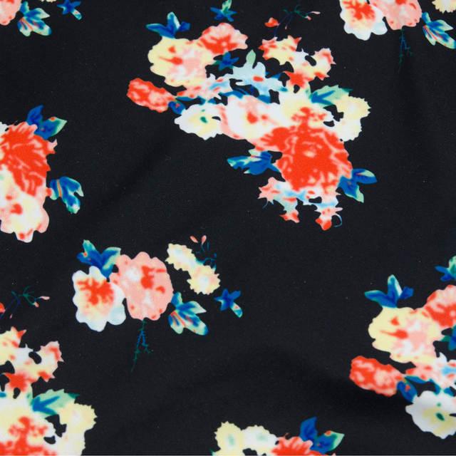 9b26aed540 Orange Bikini Women Swimwear Plus Size Cute Bow Swimsuit High Waist Vintage  Floral Beach Bathing Suits