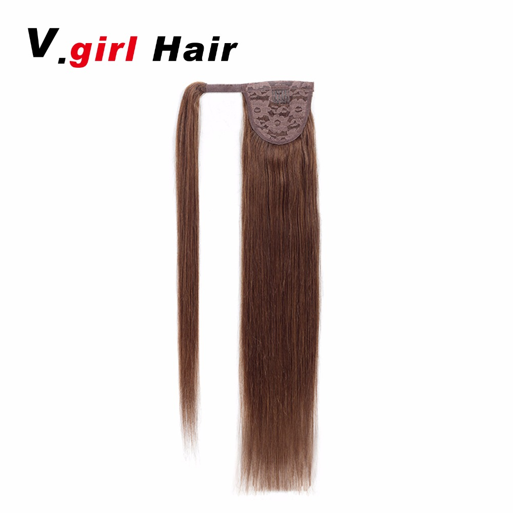 Hot Sale 100 Human Hair Brazilianponytail Light Brown Ponytail