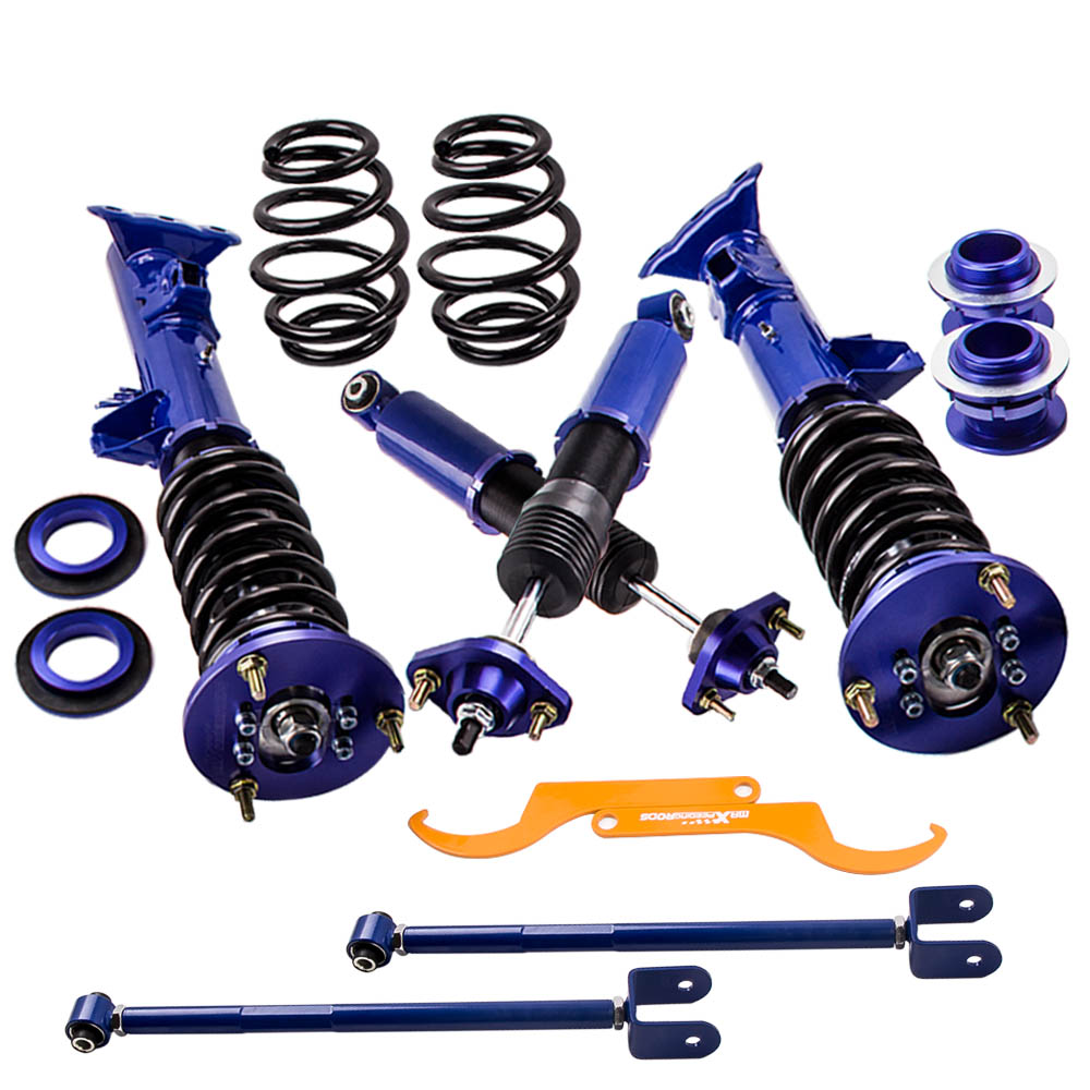 Coilover Kit for BMW 3 Series E36 M3 Base Convertible 2-Door Struts Shocks 91-98 Absorbers Front Rear Dampering Springs Strut new front strut bar new aluminum front upper strut tower bar brace for bmw e46 3 series m3 98 06 ms101024