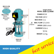 DOB 12A/40W 220v 50hz single phase Cooling emulsion Pump