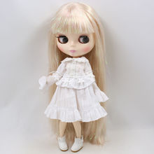 Factory Neo Blythe Doll Shiny Blonde Hair Jointed Body 30cm