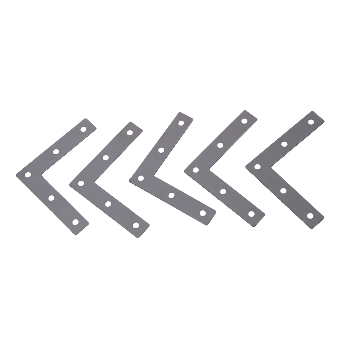 Angle Plate Corner Brace Flat L Shape Repair Bracket 80mm x 80mm 10pcs lot stainless steel flat corner brace fixed angle plate connector repair bracket 38mm 15 6mm thickness 1 73mm k160