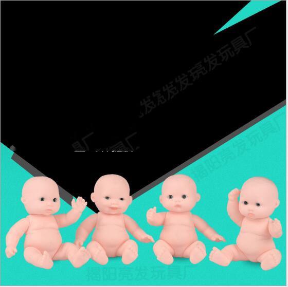 Hurtownie 12 CM 4 Style piękny Vinyl dziecko w kąpieli lalki dla dzieci dom zabaw zabawki 50 sztuk/dużo E030601 w Lalki od Zabawki i hobby na  Grupa 3