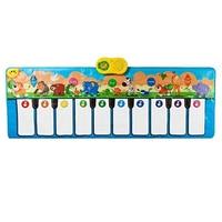 Animal Revelry Piano Mat Music Playmat Toy for Children Learning Music Kit Support Kid Educational Development Set