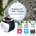Hot Mini WiFi Panoramic Video Camera 4K 2448P 30fps 16MP Photo 3D Sports Camcorder Waterproof Cam DV VR Video Image ABS Recorder