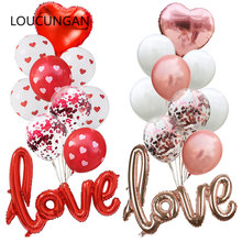 New Wedding Decoration Mr Mrs Love Balloon Bride To Be Diamond Ring Wedding Balloon Baby Shower Event Party Diy Decorations