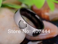 Free Shipping YGK JEWELRY Hot Sales 8MM BlackTwo Tone Color Love Hearts Men's Ring Tungsten Carbide Wedding Ring