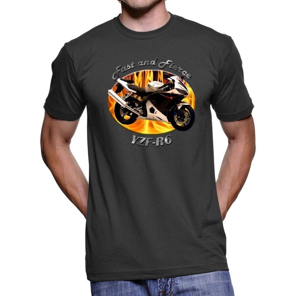 2018 Hot sale 100% cotton Japanese Motorcycle Motorbike YZF-R6 Mens T-Shirt Tee shirt
