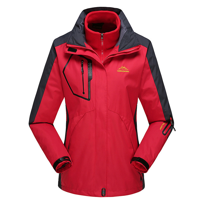 LIBO Lady's Windproof Waterproof Women Ski Jackets Winter Warm Outdoor Sport Snow Skiing Snowboarding Female Hiking Coats