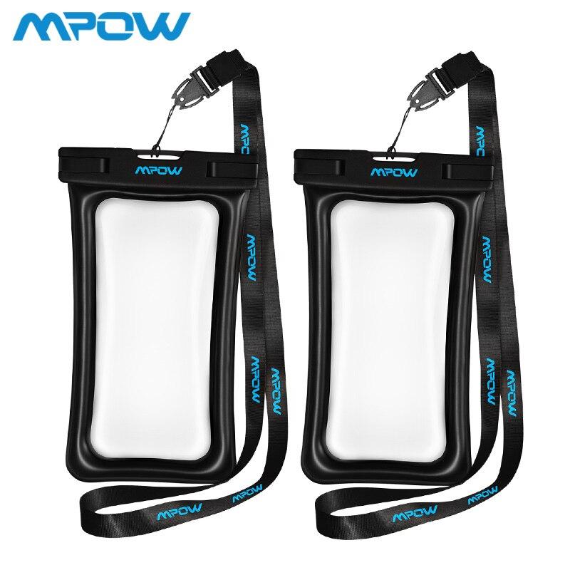 Mpow IPX8 impermeable del bolso del caso Universal 6 pulgadas teléfono móvil bolsa de natación caso tomar fotos bajo el agua para iphone sumsung huawei