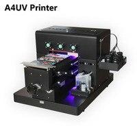 2018 A4 небольшой размер УФ принтер светодиодный с эффектом emboss Гольф УФ планшетный принтер для телефона случае, футболка, кожа, термополиурет