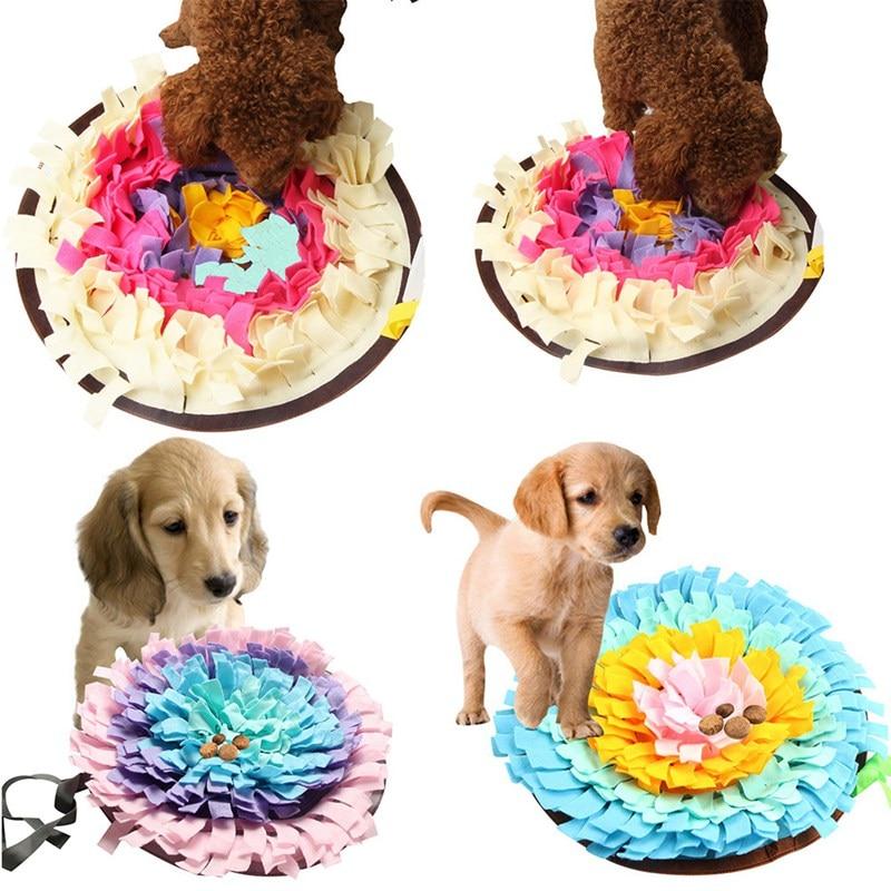 Pet Træning Snuffling Mats Blød Pet Næs Arbejd Lugt Snus Mat Træning Feeding Feeding Skill Blanket Dog Play S For Puppy