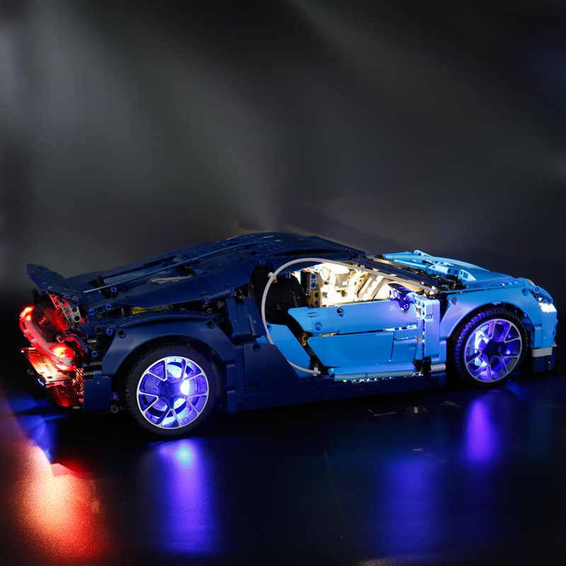 Technic 42083 kompatybilny z 20086 Creator serii Bugatti bloki zestaw oświetlenia LED (tylko światło w zestawie)