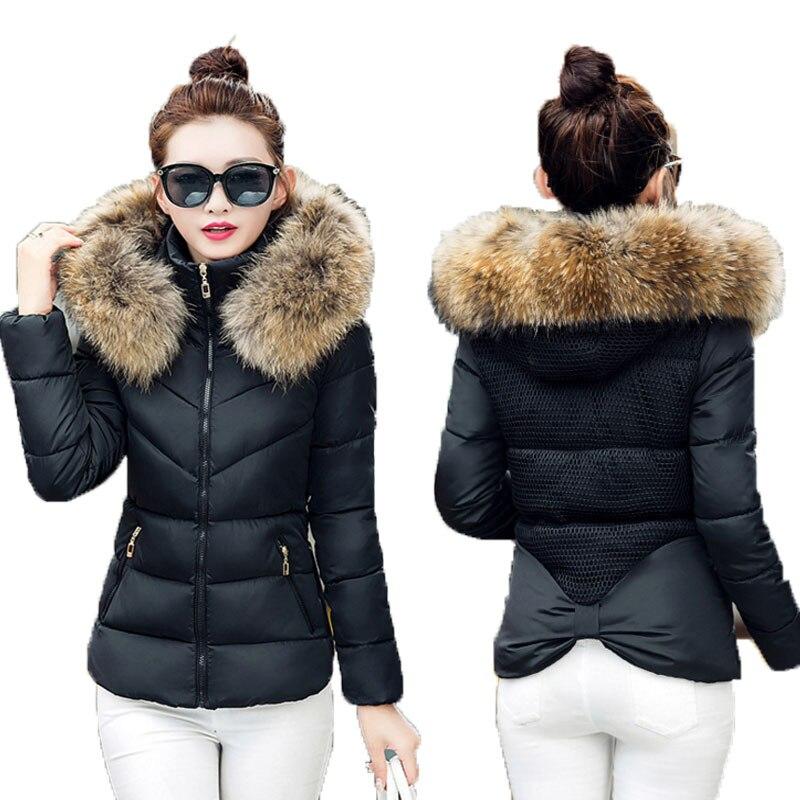 2017 New Winter Coat Female Short Slim Hooded Jacket Korean  Size Thick Cotton Jacket Tide  A Hooded Jacket Women's
