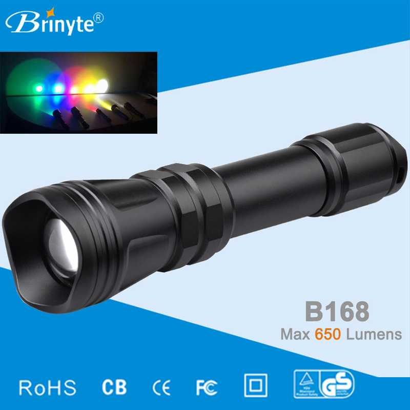 Brinyte B168 Hunting Flashlight Waterproof 5Mode Zoomable Cree XM-L2 U4 LED Rechargeable Torch Tactical Hunting Outdoor Light elasticized waist swing skirt
