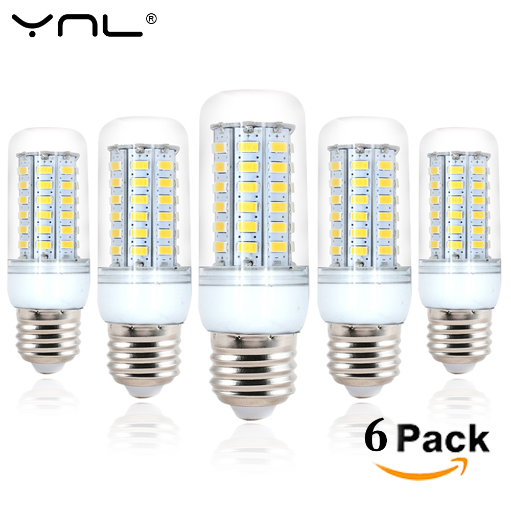 6pcs YNL LED Lamp E27 220V 24 36 48 56 69 LEDs SMD5730 Bombillas Lamparas Lampada De LED Light Bulb Ampoule Lighting