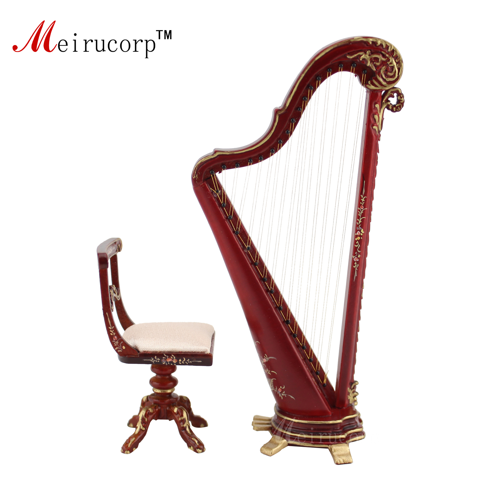 Dollhouse 112 scale Miniature painting hand Harp and stool  sc 1 st  AliExpress.com & Online Get Cheap Brushed Aluminum Stools -Aliexpress.com | Alibaba ... islam-shia.org