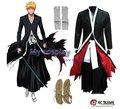 Anime Bleach Ichigo Kurosaki Bankai Cosplay Para Los Hombres la Ropa de Los Hombres de Halloween