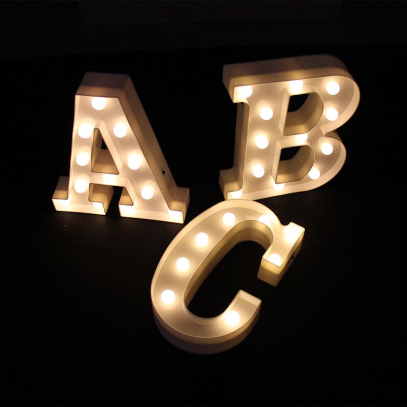 9inch white plastic led marquee letter light sign light light up night lightchina - Lighted Marquee Letters