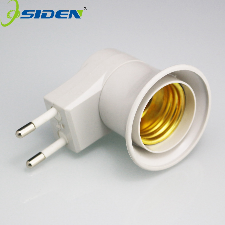 1Pcs Free Shipping E27  EU Plug Adapter With Power On-off Control Switch E27 Socket Lamp Base Lamp Socket