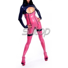 Suitop shipping via DHL sexy latex club dress