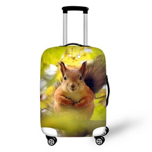 hot deal buy creative design travel protective cover for 18-30 inch trolley suitcase rain dust protector covers animal squirrel prints