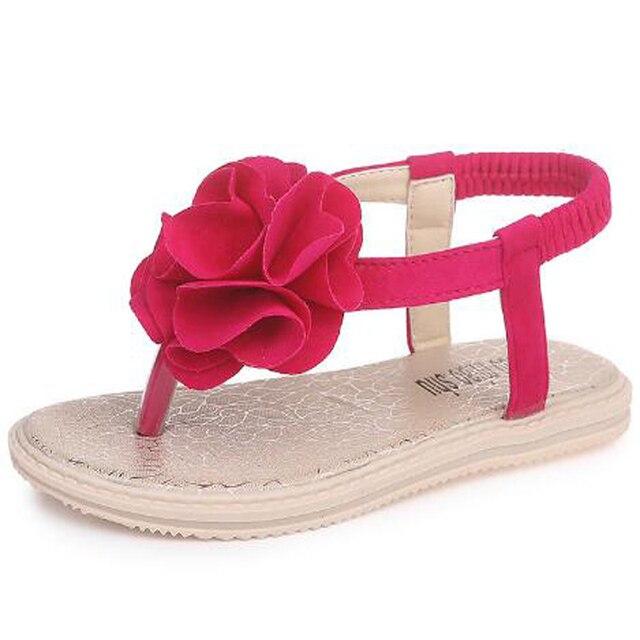 2018 Children shoes girls Flip Flops Summer Fashion Flower Children Sandals  Casual kids Shoes Flats Beach Sandals Girls slipper a59813f9e7b0