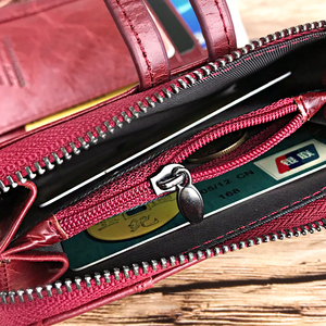 Image 5 - DICIHAYA NEW 2020 Genuine Leather Women Wallet Samll Women Leather Wallets Brand Coins Purse Red COW Leather Wallets Card Holder