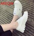 Primavera zapatos de lona de las mujeres zapatos casuales blancos zapatos de tela Coreana zapatos blancos B1