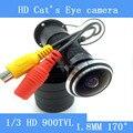 Hd 5MP 170 широкоугольный проводной ночного видения дверь глаз видео камера цветная 1/3 'Sony камеры наблюдения