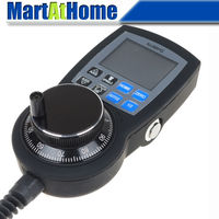 NVMPG CNC 6 Axis MPG Manual Pulse Generator With Handwheel LCD RJ45 Serial Communication Protocol SM769