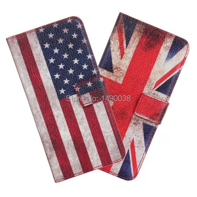 Retro UK USA Flag Flower Cute Owl PU Leather For iPhone 6 Plus/6S Plus 5.5 Inch Case Book Stand Wallet Card Slots Free Shipment