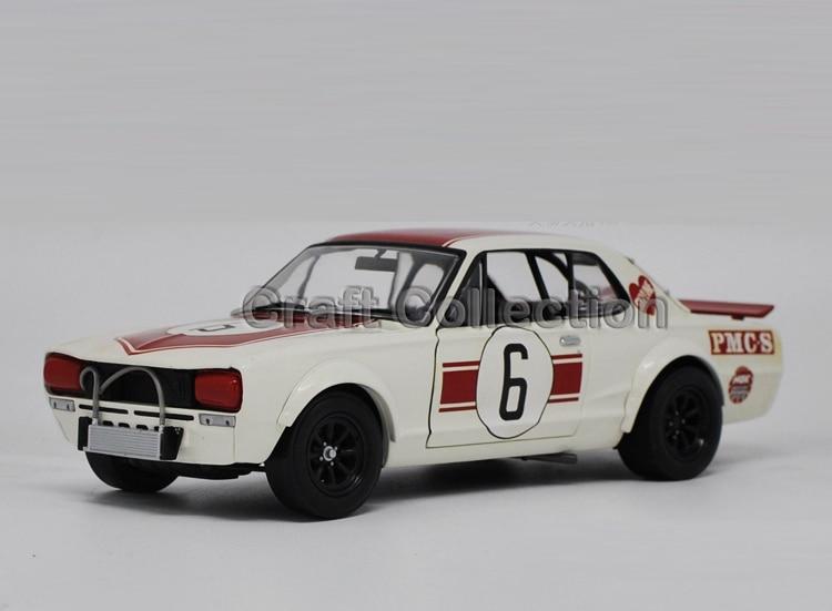 *  1:18 Nissan Skyline GTR Racing #6 Classic Alloy Model Vehicle GTR35 GT R Spirit autoart 1 18 nissan alto skyline nismo s1 alloy model car