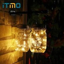 Itimo jar вставить света строки Медный провод Наружное освещение 10 светодиодов солнечной Батарея работает Гирлянда Главная Garden Party Декор Лампы для мотоциклов