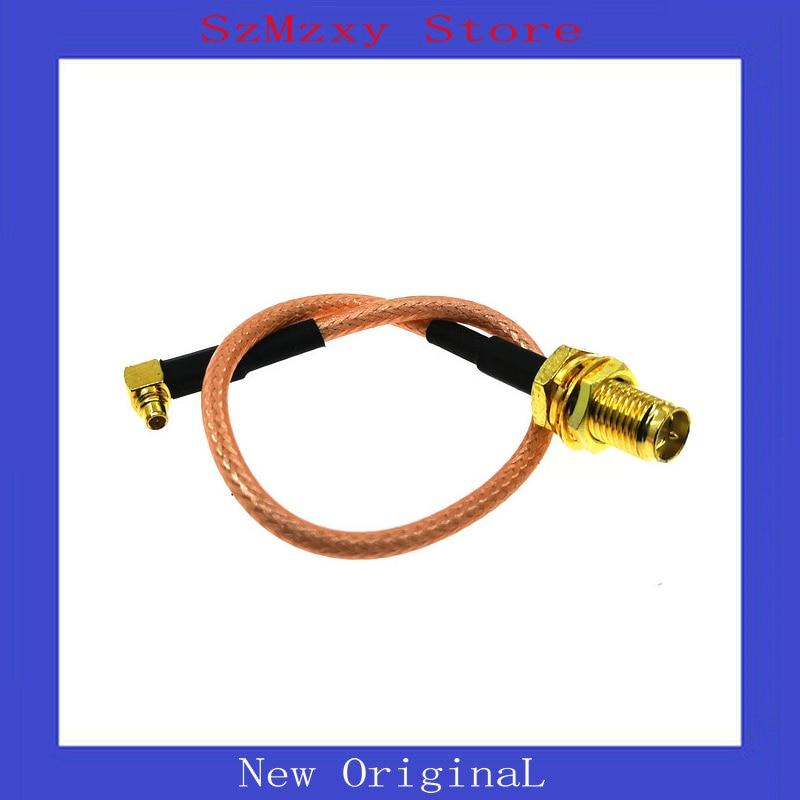 1 шт. новый угловой плетеный кабель RF RP SMA Мужской переключатель MMCX Мужской правый угол Pigtail кабель RG316 разъемы SMA-MMCX