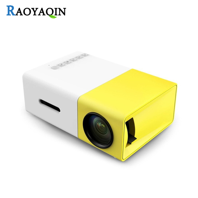 YG300 micro mini portable projector HD Pocket LED projector for Video Home Theatre Movie Support HDMI USB SD Home Media Player