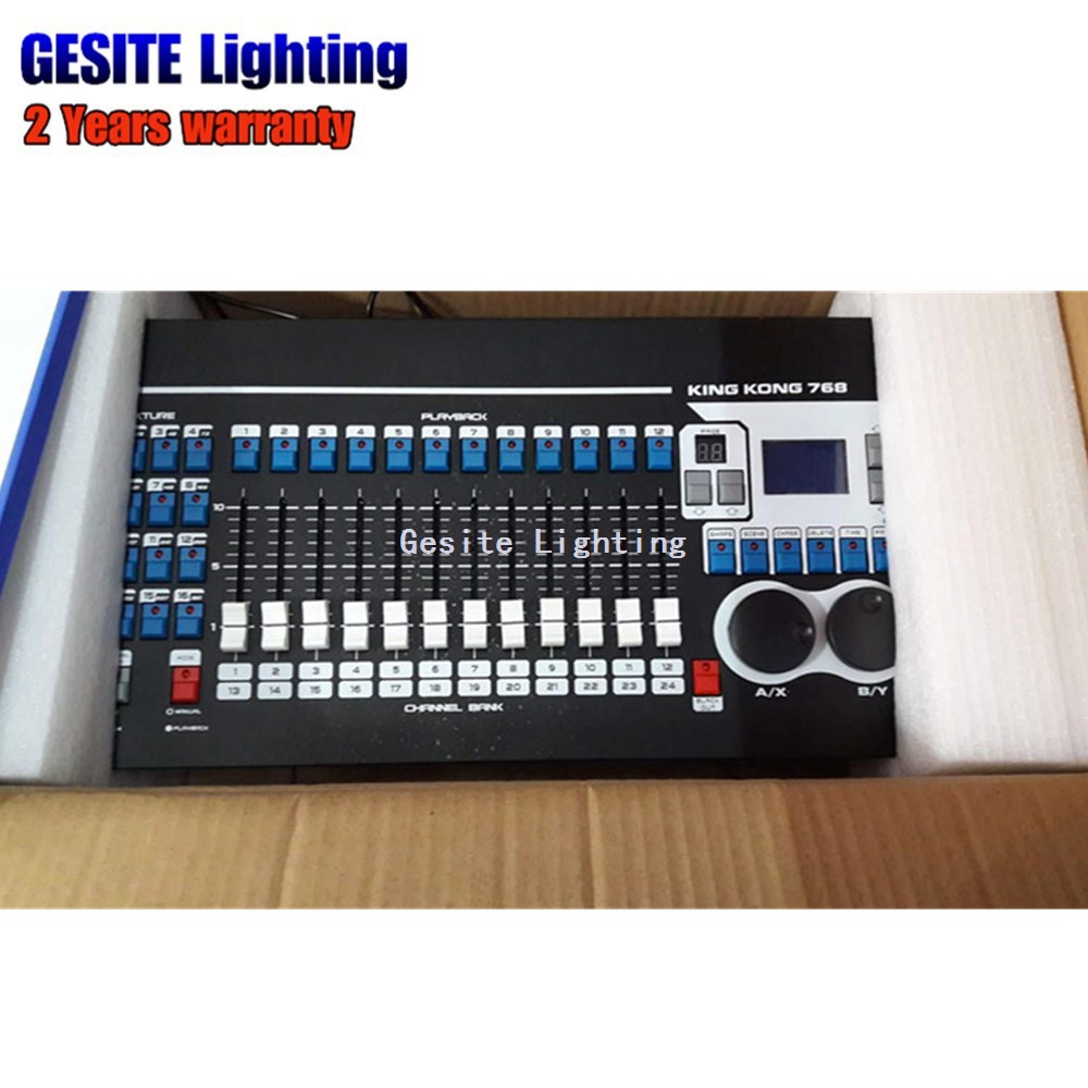 Kingkong KK768 controlador DMX profesional 768 canales DMX incorporado 135 gráficos iluminación de la etapa 512 Dmx consola equipo