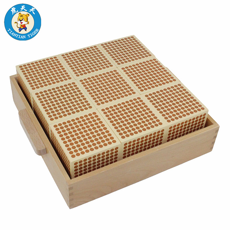 Montessori Mathematics Toys Learning Eucation Wooden Toys For Children 9 Wooden Thousand Cubes With Tray montessori interests of wooden toys multi function box learning children present wooden blocks
